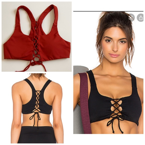Lovers + Friends Tops - NEW Lovers + Friends WORK - Prima Lace Up Bra
